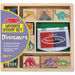 Melissa & Doug Dinosaur Wooden Stamp Set