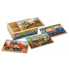 Melissa & Doug Construction Wooden Vehicles Jigsaw Puzzles