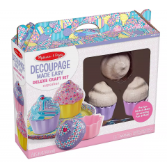 Melissa & Doug Decoupage Deluxe Craft Set - Cupcakes