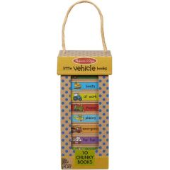 Melissa & Doug Natural Play Book Tower - Little Vehicle Books