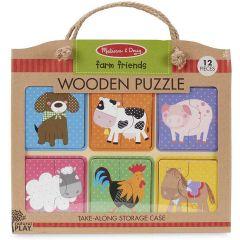 Melissa & Doug Wooden Puzzle Farm Friends (12pc)
