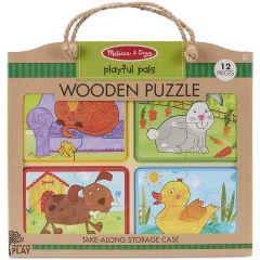 Melissa & Doug Wooden Puzzle Playful Pals (16pc)