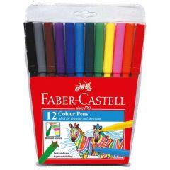 Faber Castell Fibre Tip, 12 Color Pens