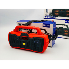 AK-355 New Type Outdoor Bluetooth Speaker with Colored LED Light and Screen, Support BT/USB/AUX/FM/TF Function