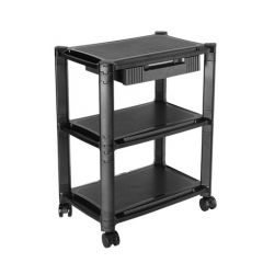 Lumi AMS-5L 3-Tier Mobile Modular Multi-Purpose Smart Stand With Drawer And Shelf (Large Surface)