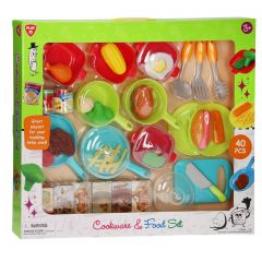 Play Go 3740 Cookware & Food Set – 40 Pcs