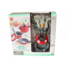 Play Go Metal Cookware Red 8 pcs 6836