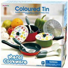 PlayGo Metal Cookware Coloured Tin 6838