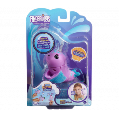 Fingerlings Light Up Narwhal – Nelly – Purple