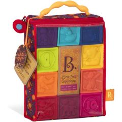 B Toys One Two Squeeze Baby Blocks