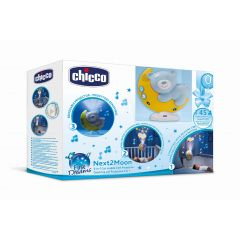 chicco Next2Moon Mobile with Night Light Projector 3in1 - design: Hellblau