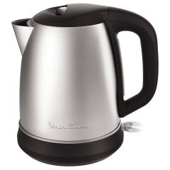 Moulinex BY550D10 Subito Kettle, 2400W, 1.7 Liter, Black/Stainless Steel