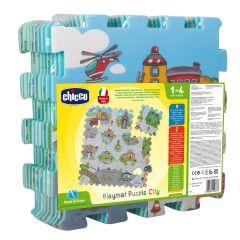 Chicco - Soft Puzzle Mat City- 9 Pieces