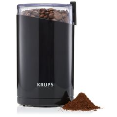 Krups F2034210 Electric Spice and Coffee Grinder with Stainless Steel Blades, 3-Ounce, 200W, Black