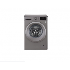 LG Front Load Washer, 7 Kg, 6 Motion Direct Drive, Add Item, Smart Diagnosis , Silver