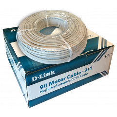 D-Link DCC-WHI-90 CCTV Coaxial Cable, 90 Meter