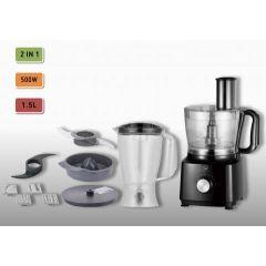 Home Electric FP-2400 Food Processor, 1.2L Bowl, 1.5L Jar, Juicer, 500W