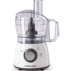 Black & Decker FX400-B5 Food Processor, Stainless Steel Blades and 2 Speed Pulse Function, 1.2 Ltr, 400W