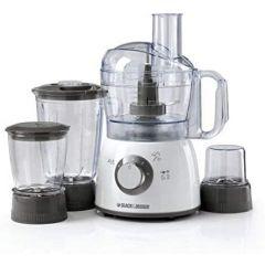 Black & Decker FX400BMG Food Processor with Blender, Mincer & Grinder, 1.2 Ltr Bowl, 1.5 Ltr Jar, 400W