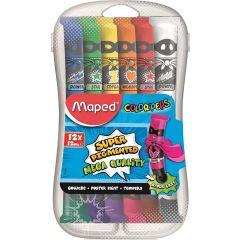 Maped Color'Peps Gouache Paints in Plastic Box, 12 x 12 ml