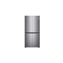 LG Slim French Door Fridge with 594 L  & Inverter Linear Compressor ,  Platinum Silver