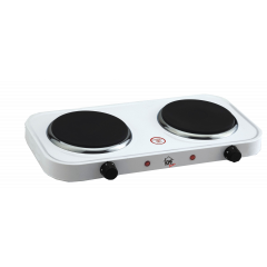 Home Electric HP-3010 Hot Plate, 1500W, Double, White