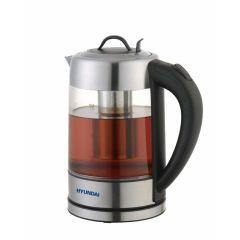 HYUNDAI Electric Kettle 2 N 1 Water & Tea Heater, 1.7L Glass