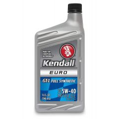 Kendall  GT-1 Euro 5W-40 Full Synthetic Motor Oil - 1 Quart
