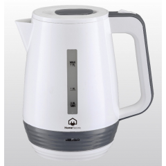 Home Electric KK-548 Kettle, 1.7 Ltr, 2200W, White and Grey