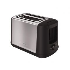 Moulinex LT340811 Subito Select Stainless Steel Toaster, 2 Slice, 7 Levels of Browning, Defrost and Reheat Function, 850W