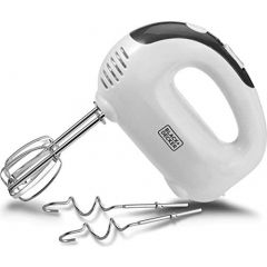 Black & Decker M170 3 Speed Hand Mixer, 200W, White