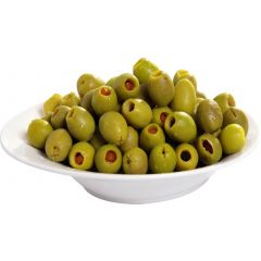 Green olives stuffed with carrots in oil 250g