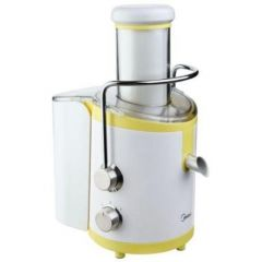 Midea MJ-60JM01A Fruit And Vegetable White/Yellow Juicer 1.25 Liter, 600W