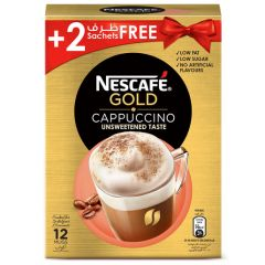 Nescafe Gold Cappuccino Unsweetened Taste 12 x 14.2g