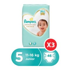 Pampers premium care, Size 5, Junior, 11 - 16 kg, 138 Diapers