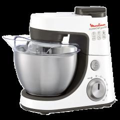Moulinex QA408127 Master Chef Gourmet Food Processor, 900W, 4 Liter, White
