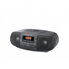 Panasonic RX-D53GC-K CD Radio Cassette Recorder, Black