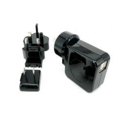 Huntkey TravelMate Multi Plugs Dual USB 2.1A Wall Charger HKC02105042-XA