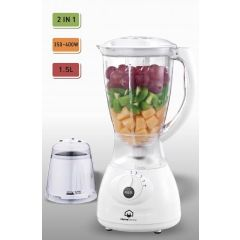 Home Electric T-612 Blender, 1.5L, 400W, White