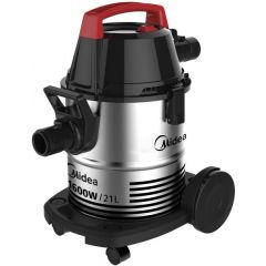 Midea VTW21A15T Drum Silver Vacuum Cleaner, 21 Liter Capacity, 1600W