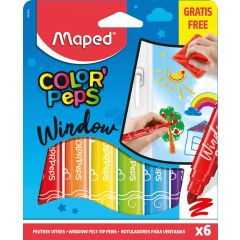 Maped Pack of 6 Color' Peps Markers for Windows