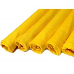 Kent YD295 Five Cotton Yellow Dusters Household Cleaning Cloth